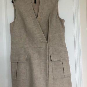 BCBG Maxazria long wrap vest